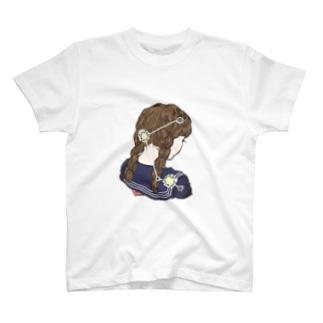 【ないしょの星座】みつあみ座 T-shirts