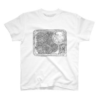 ざる蕎麦(黒) T-shirts