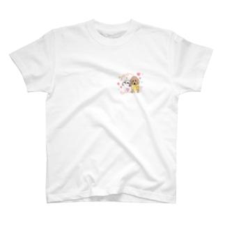 なかよし シーズー&プードル T-shirts