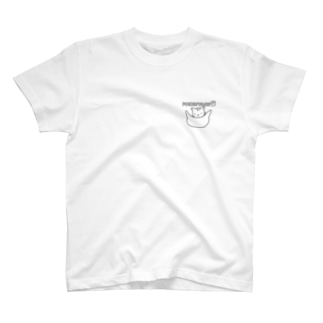 Life Design Factory PINCEのかわいい猫ポケット T-shirts