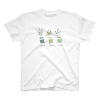 植物絵具 T-shirts