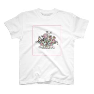 戦士と馬 T-shirts