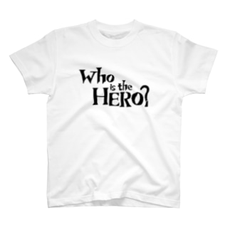 Who is the HERO? ロゴ(黒文字) T-shirts