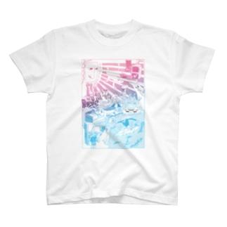 けいしろうストアの横断歩道と波乗り T-shirts