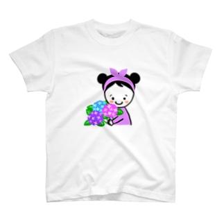 紫陽花スマイルちゃん T-shirts