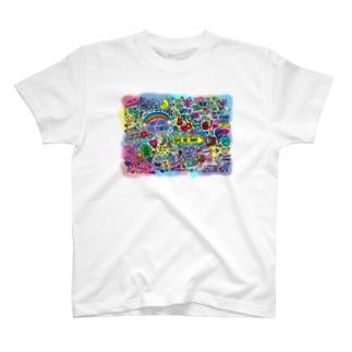 ごちゃごちゃカラフル Tシャツ T-shirts