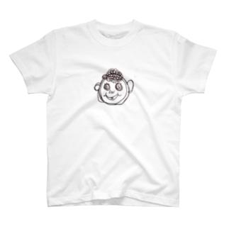 yuppyhappyのくるくるしてる男の子 T-shirts
