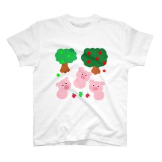 こぶたちゃんに見つかった T-shirts