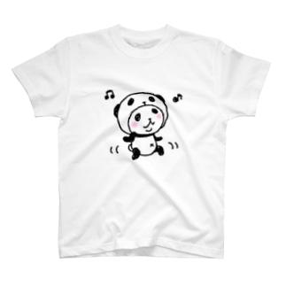 パンダinぱんだ(ダンシングぱんだ) T-shirts