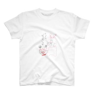 パンダとうさぎの戦い2 T-shirts