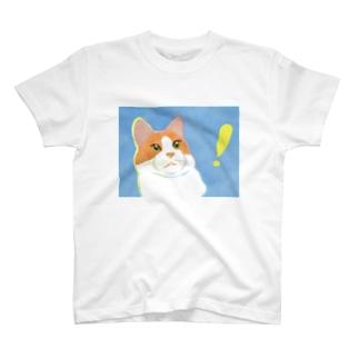 驚くねこ T-Shirt