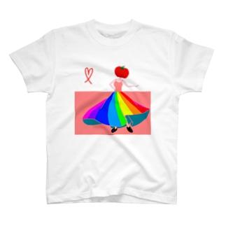 虹 ドレス トマト T-shirts