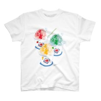 かき氷3点 T-shirts