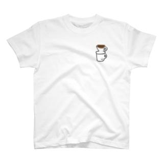 コーヒー注入 T-shirts