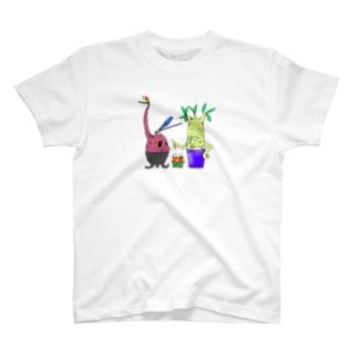 植物頭と神様トンボ T-shirts