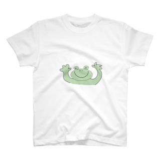 喜ぶカエル T-shirts