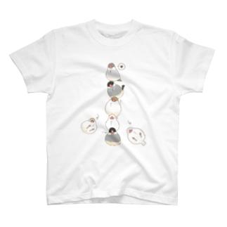 おもち文鳥たわー T-shirts