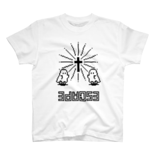 【IENITY】シーツおばけちゃん #ESCAPE T-shirts