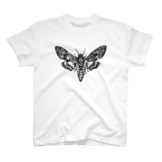 蛾(クロメンガタスズメ) T-shirts