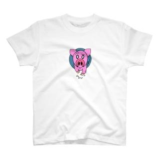 わがままな子ブタ T-shirts