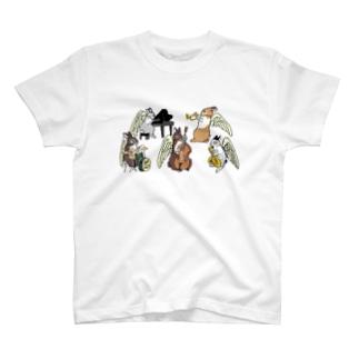 天使うさぎのジャズクインテット T-shirts