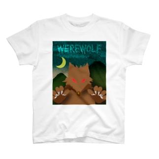 人狼(ホラーテイスト) T-Shirt
