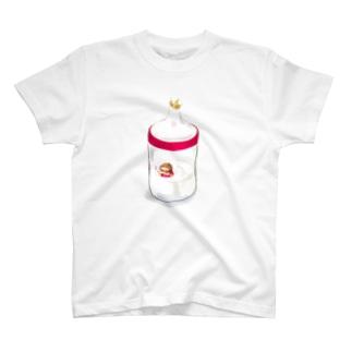 巨人👨の哺乳瓶🍼で泳ぐ僕ちゃん🌟🌟てぃ~シャツ T-shirts