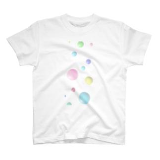 涼しげ水玉 T-shirts