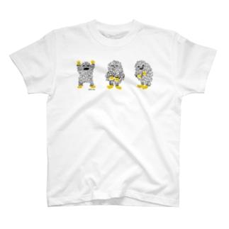 さんびきのけもじゃ T-shirts