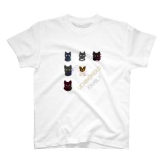 やちる本舗のうちのねこ家族 T-shirts