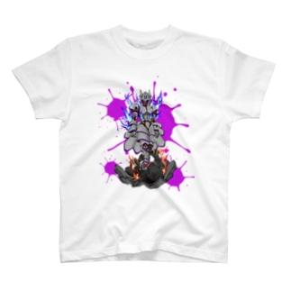 あなざー屋の狐陣笠 vs 白尾 T-shirts