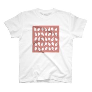 Little fingerのぶんちょ 上から下から (桃色) T-shirts