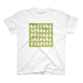 Little fingerのぶんちょ 上から下から (きみどり) T-shirts