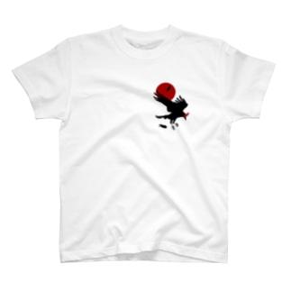ESCHATOLOGYのレイヴン/赤月 T-shirts