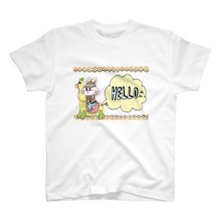 【Yuwiiの店】ゆぅいーのラクダあんどウサカウボイ T-shirts