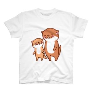corotan09のカワウソ親子 T-shirts