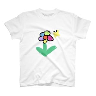 お花とちょうちょさん T-shirts