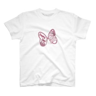 romantic mauve strawberry cake 🎀 ribbon T-shirts
