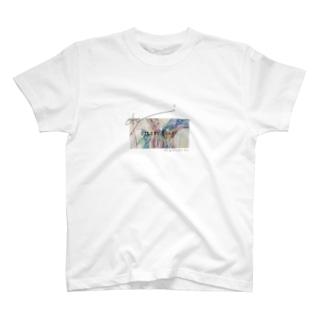雨降り silent heart T-shirts