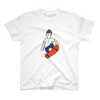 スケボー少年 T-shirts
