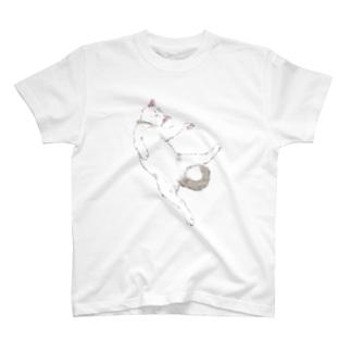 白ふわこねこ T-shirts