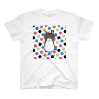 サバトラにゃんもげら(水玉) T-shirts