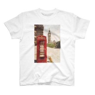 コーギー in LONDON T-shirts