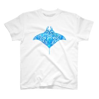 マンタ×トライバル T-shirts