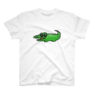 うるうる目のワニくん T-shirts