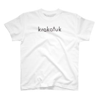 krakatukLOGO (ホワイト) T-shirts