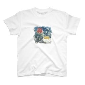 雲ねこちゃんの旅~メンダコ案内~ T-shirts