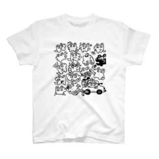 わちゃわちゃガブ T-shirts