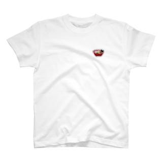刺繍で作ったおいしい醤油ラーメン T-shirts