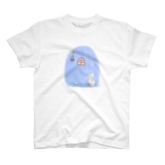 ぴんくとあおと、ときどききいろ T-shirts